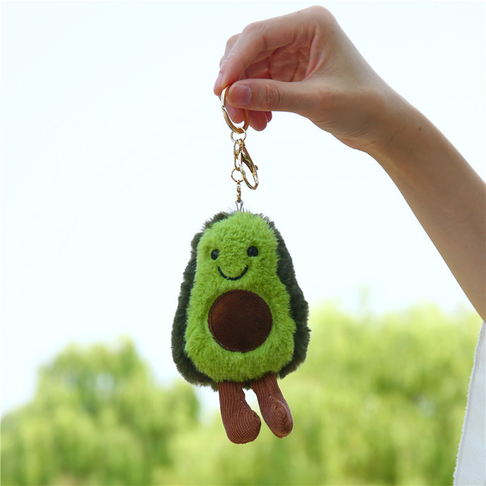 13cm Avocado Keychain Fruits Stuffed Plush Toy Filled Doll Key Ring Cushion Pillow Child Child Christmas Gift Girl Baby Girl