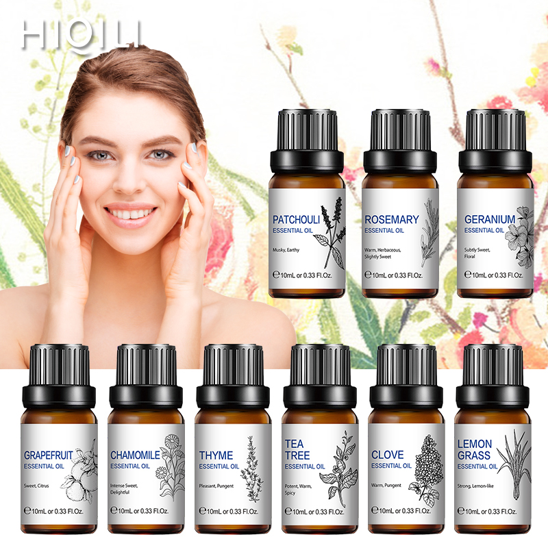 Lavender Essential Oils 10ML Diffuser Aroma Oil Sandalwood Vanilla Clary Sage Basil Cypress Peppermint Clove Patchouli Rose