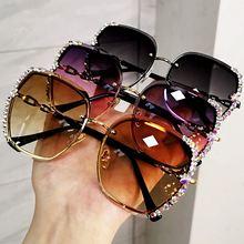 Очки солнцезащитные женские поляризационные без оправы роскошные