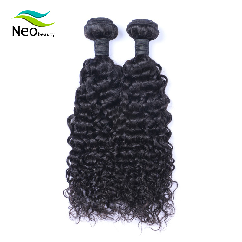 Jerry Curl Human Hair Brazilian Hair <font><b>Bundles</b></font> 2pcs/lot Curly Hair Black virgin human hair 8 10 12 14 16 18 20 <font><b>22</b></font> 24 <font><b>Inch</b></font> Neobeau image