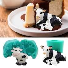 Модель «сделай сам» коровы животное украшение для торта из помадки