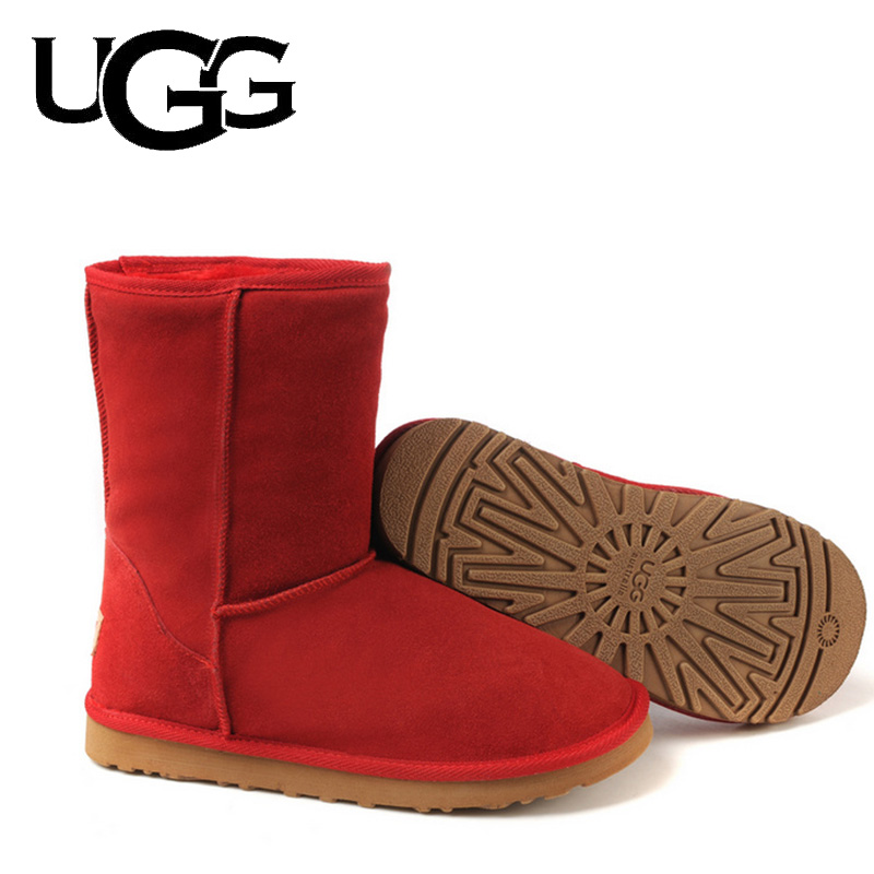 Australia Boots Fur Wool UGG Boots Original 5825 Classic 3/4 Mid Short Boot Ladies With Button Ugged Women Boots Snow Boots