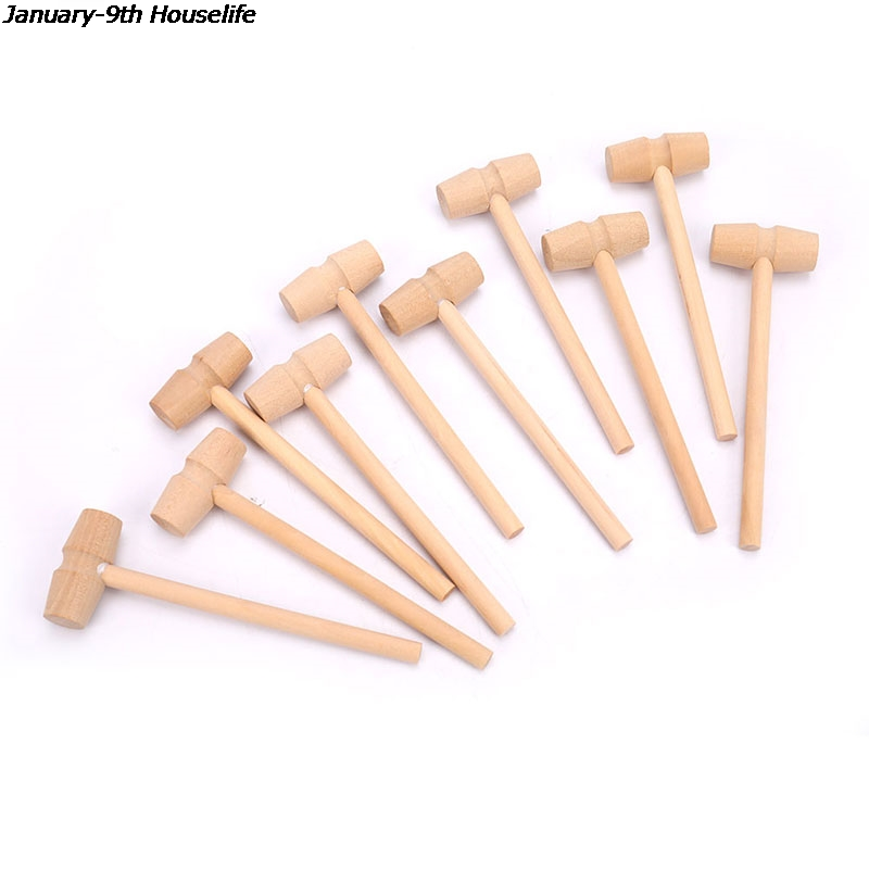 10 шт. мини деревянный молоток шары игрушки фунта Замена древесины барабанные палочки для малышей