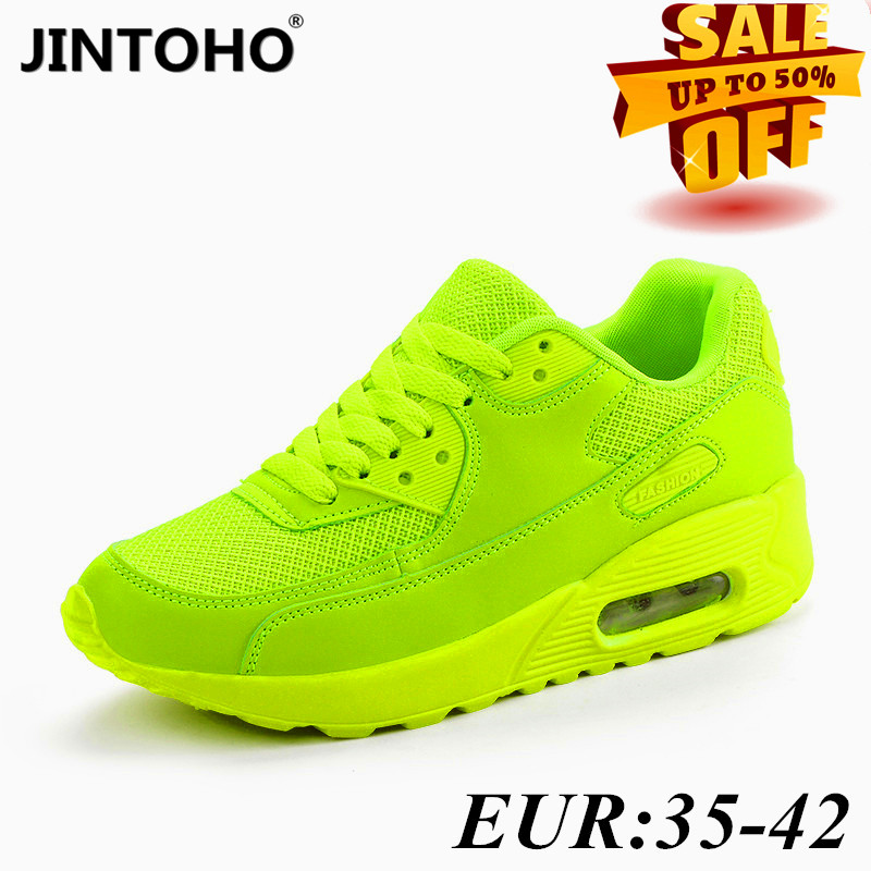JINTOHO 2020 Women's Sports Shoes Summer Breathable Mesh Brand Women's Shoes Black Green Red Tenis Feminino Women's Shoe Basket