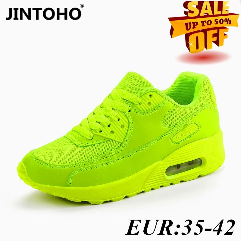 JINTOHO 2020 women's sports shoes summer breathable mesh brand women's shoes black green red Tenis Feminino women's shoe basket|Women's Vulcanize Shoes| - AliExpress