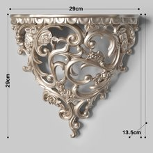 creative wall decoration shelf stereo partition crafts Champagne white color Resin Home Wall Holder Decoration Frame цена 2017