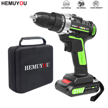 12V Screwdriver Power-Drill Lithium-Ion-Battery Cordless Mini 21V