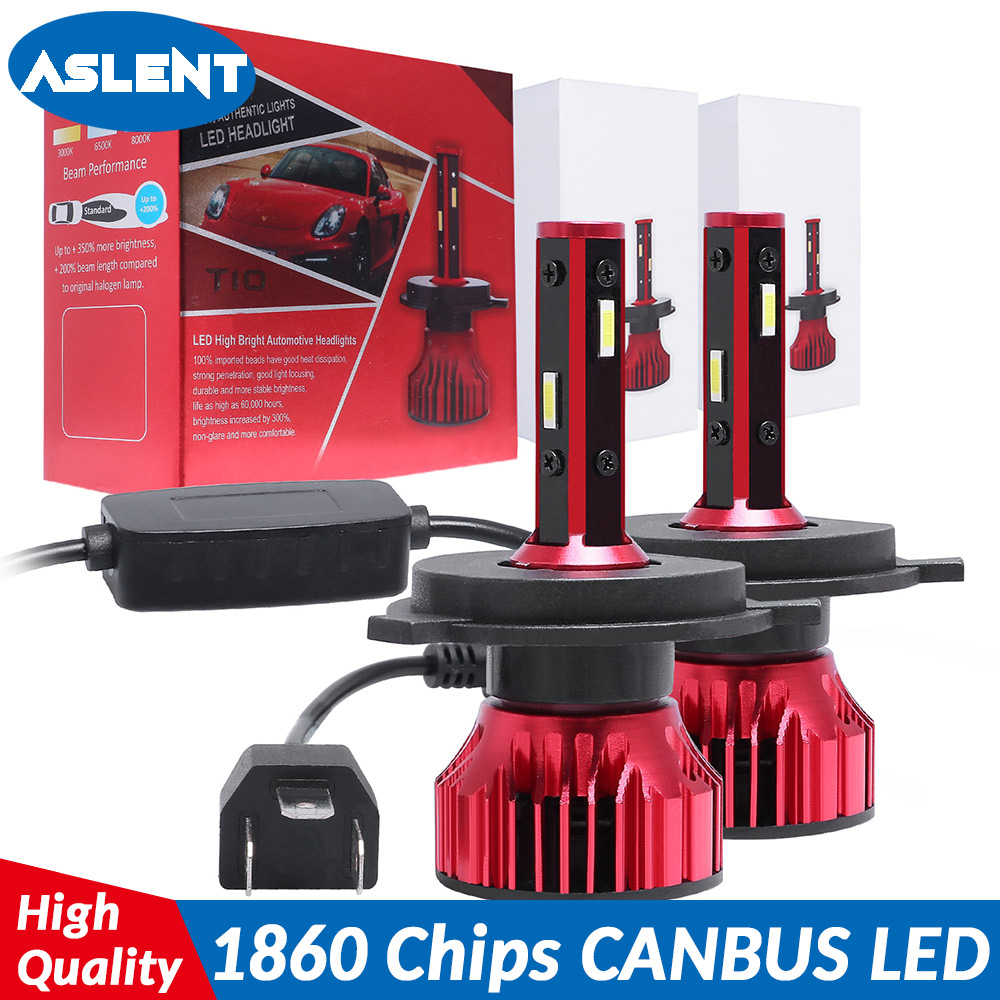 ASLENT 4 Sides 14000LM H8 H11 H3 Fog Lights No Error H7 Led Canbus H4 LED Lamp HB3 9005 HB4 9007 H1 H27 Auto 12V 6000K 6500K