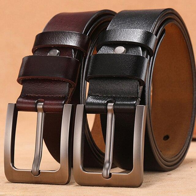 Retro Pin Genuine Leather Men's Leisure Belt 1