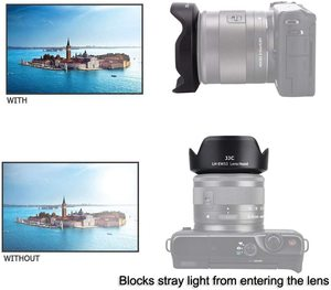 Image 2 - EW 53 geri dönüşümlü Lens Hood gölge Canon EF M 15 45mm F3.5 6.3 is STM Lens EOS M5 M6 mark II M50 Mark II M50 M200 M100 M10