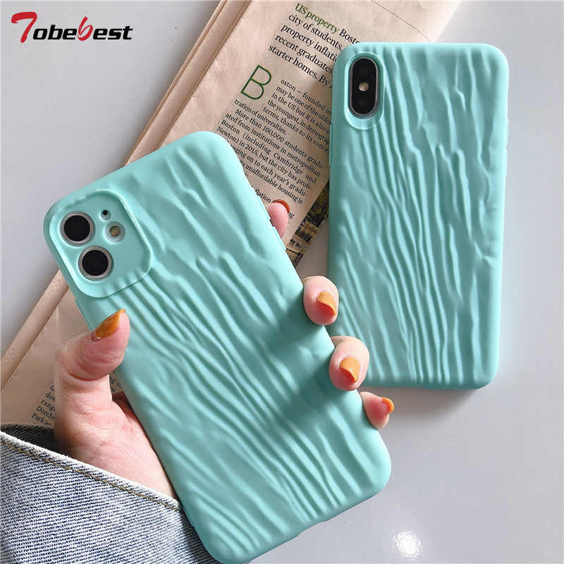 New Folds Case For iphone 11 Pro XS Max XR X 8 7 6S 6 Plus Silicone Cases Solid Color Soft TPU Green Back Cover For iphone 11