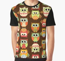 All Over Print 3D Men Funny tshirt Women t shirt Adorable Retro Fall Owls Graphic T-Shirt(China)