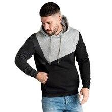 Autumn New Men Long Sleeve Hoodies Streetwear Hooded Loose Patchwork Sweatshirt Casual Male Running Sports Hoodies Plus Size 3XL цены