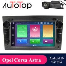 AUTOTOP 2 din Auto Radio GPS Android 10,0 Mulimedi für Astra H G J Antara Vectra Corsa Zafira Vivaro Meriva veda DSP Carplay