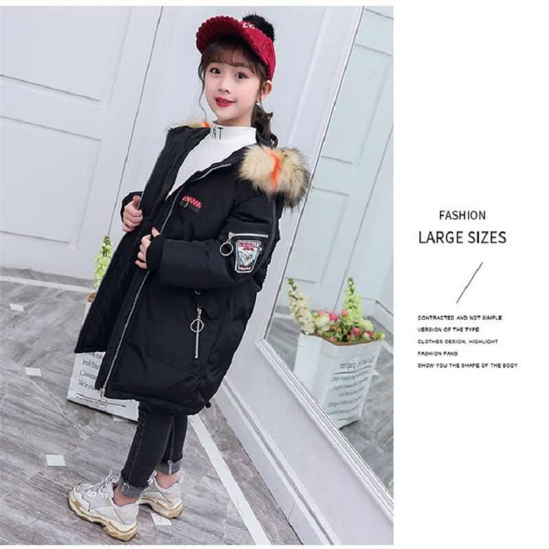 בנות ארוך מעיל 2020 סתיו וחורף ילדים של מעיל אדום שחור לבן מעיל עף מנוף חדש אופנה ילדים חם מעיל מעיל