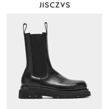 Женские ботильоны на платформе; коллекция года; ботинки на платформе с не сужающимся книзу массивным каблуком; роскошные фирменные дизайнерские ботинки «Челси»; женские Ботинки martin; зимняя обувь