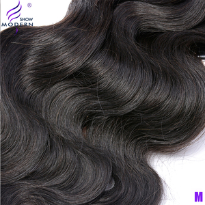 Image 5 - Brazilian Body Wave Bundles With Closure 3 Bundles Human Hair Weaves With Lace Frontal Middle Radio Remy Hair Extensions