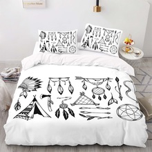 Duvet-Cover-Set Size-Bedding King with Pillowcase 220230 Chimes-Pattern Wind Bohemia