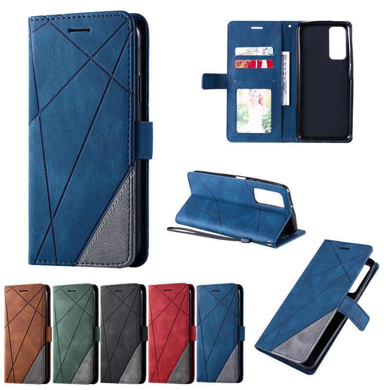 Stand Leather Phone Holster For Huawei P40 P30 Lite Pro Y6P Y7P P Smart 2020 2021 Mate 30 Lite Cover Flip Magnetic Wallet Cases