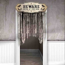 Halloween Curtains Prom Make Up Party Decorations Door Topper Tricky Props Horror Curtain
