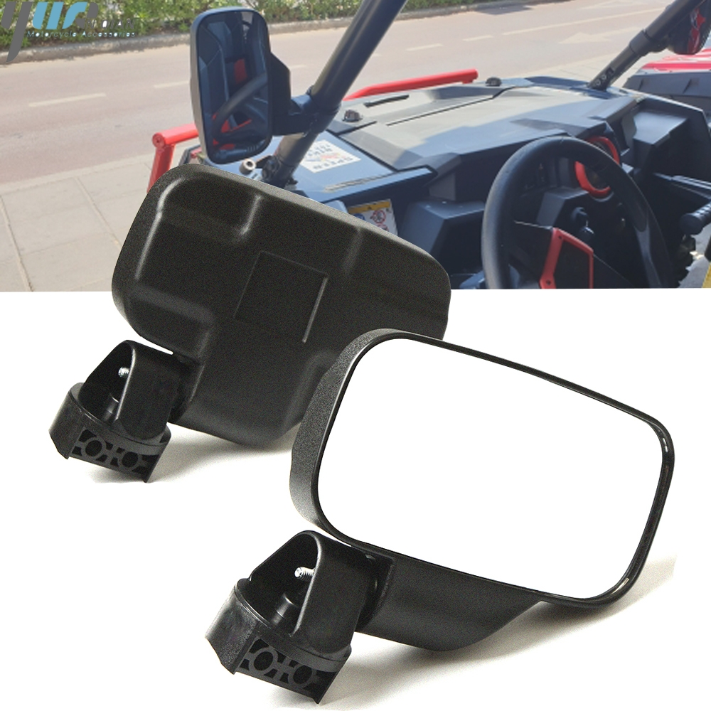 Yamaha Rhino 450 660 700 Black UTV Universal Side /& Rear View Mirror Kit
