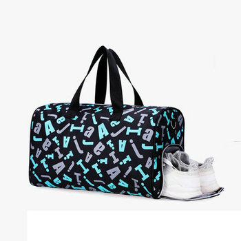 Gym Bag Sports Travel Duffel Bag For Women Waterproof GymYoga Bag Men Sack De Sport Outdoor Training Bag With Shoe Compartment sports gym bag waterproof travel duffel bag with wet pocket