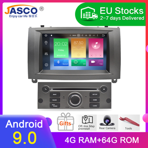 Android 9.0 10.0 Car DVD Player GPS Glonass Navigation for Peugeot 407 2004-2010 4GB RAM 32GB ROM Multimedia Radio Stereos(China)