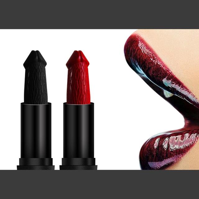Funny Penis Shape Lipstick Mushroom Long Lasting Moisture Cosmetic Lipstick Red Lip Matte Lipstick Makeup Gift maquillage 2