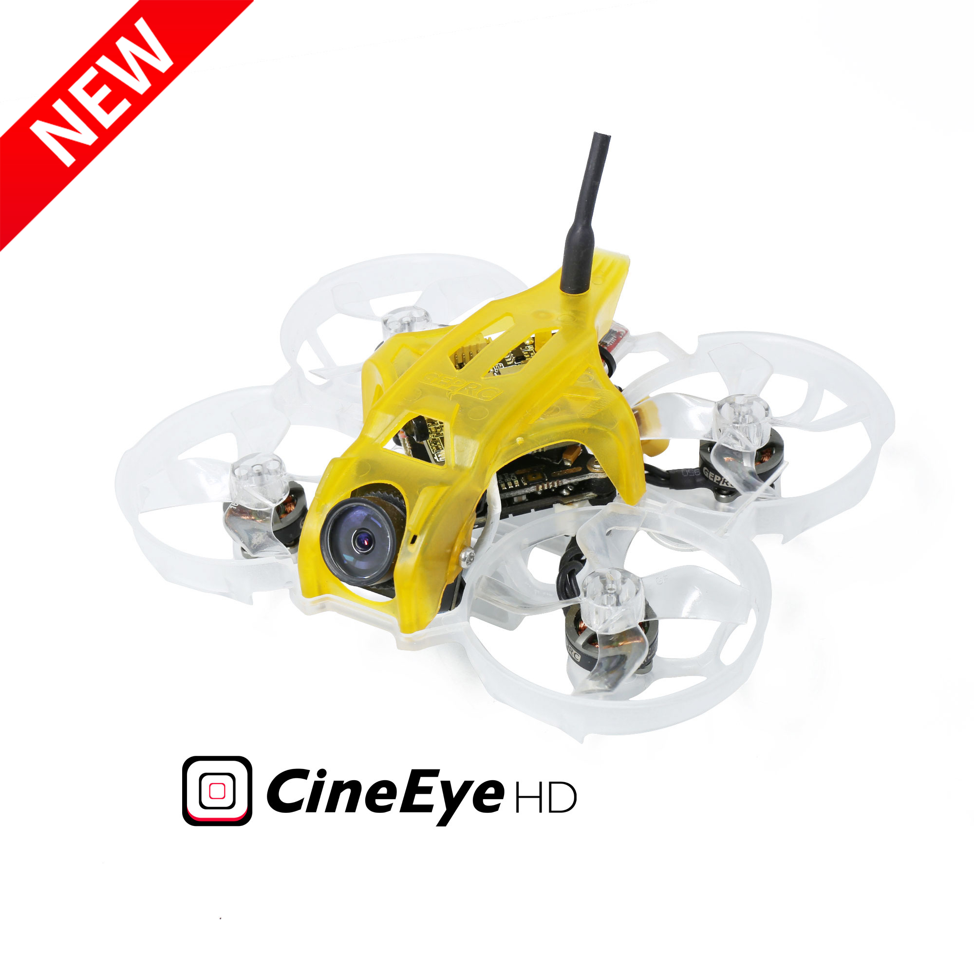 New GEPRC CineEye HD CineWhoop 2-4S FPV Racing Drone PNP BNF with Caddx Baby Turtle V2 Camera <font><b>1102</b></font> <font><b>Motor</b></font> GEP-12A-F4 FC image