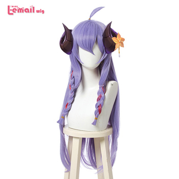 L-email wig Spirit Blossom Kindred Cosplay Wig LoL Cosplay Loose Wave Straight Purple Braided Wigs Heat Resistant Synthetic Hair l email wig lol xayah cosplay wigs star guardians cosplay long pink purple wig with ears heat resistant synthetic hair perucas