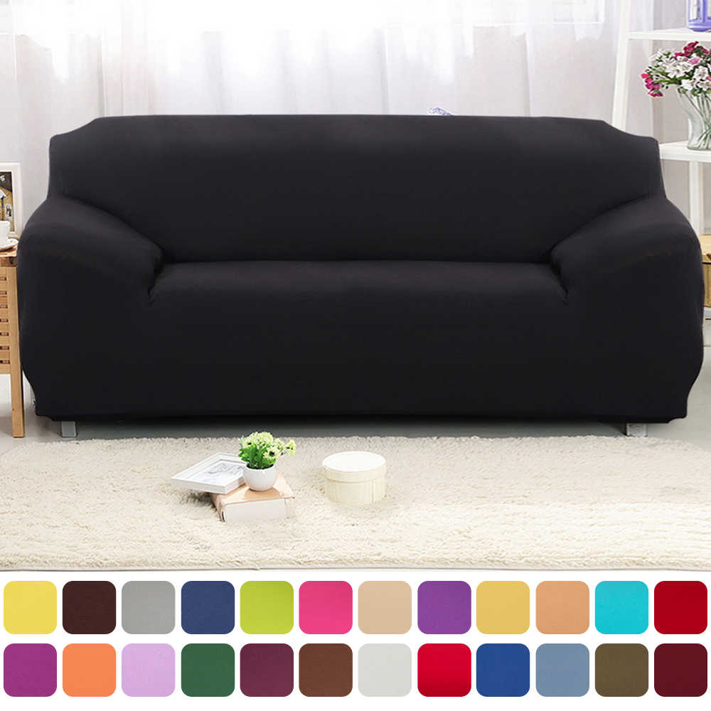 Elastic Solid Modern Dustproof Universal Polyester Stretchable Sofa Cover