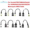 OBD2 Stecker für Motorrad Motobike OBD Für Für Ducati Für YAMAHA 3pin Für HONDA 4Pin Für KTM 6pin Moto OBD verlängerung kabel