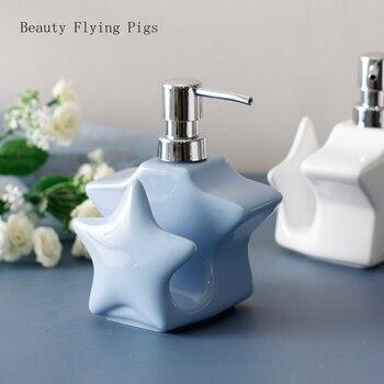 Ceramics soap bottle Essence bottle Liquid foam Soap Dispenser Kitchen hand wash dispenser shampoo bottle Bathroom Accessories