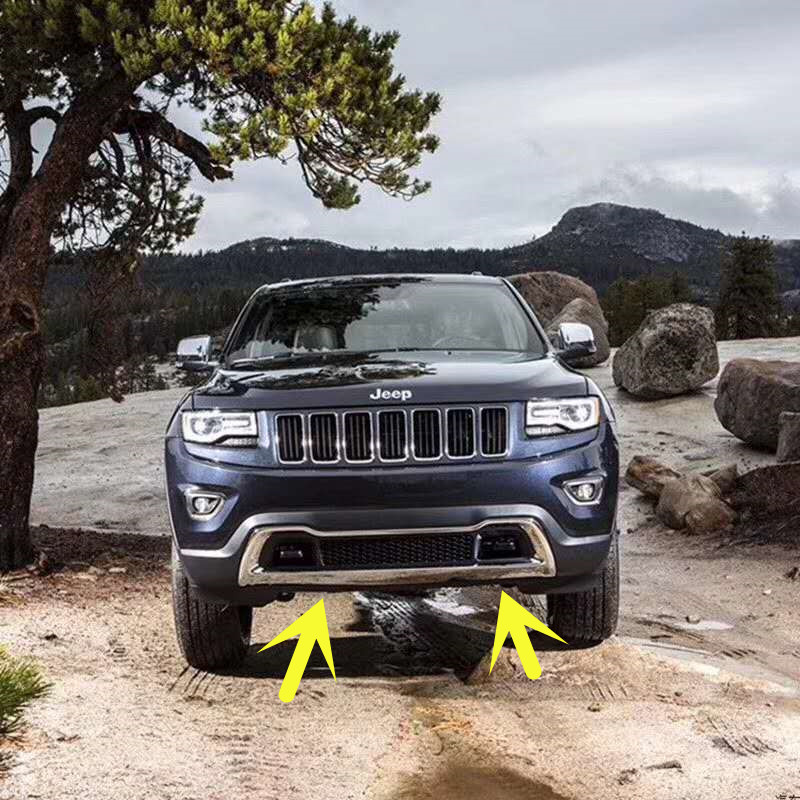 Car Front Around Mesh Grille Grills Cover Trims For Jeep Grand Cherokee 2014 2015 2016|Chromium Styling| |  - title=