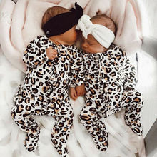 PUDCOCO Newborn Infant Baby Boy Girl Leopard Cotton Romper Jumpsuit Clo