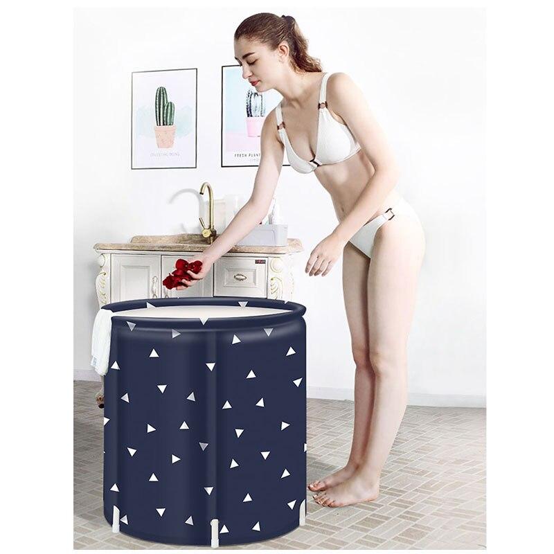 Nouveauté maison baignoire gonflable enfants adultes SPA Massage piscine Portable pliable en plastique baignoire épaissie seau de bain