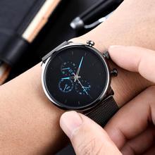 Fashion Geneva Men Round Dial Alloy Straps No Number Analog Quartz Wrist Watch Jewelry Gift Male Clock Top Brand Luxury