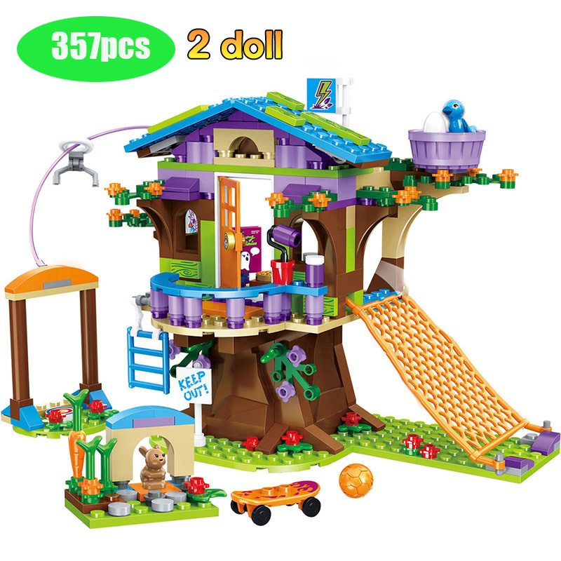 357pcs Mia's Tree House Building Blocks Compatible lepining Girls Friends Stacking Bricks Figures Toys For Children GB02|Blocks| |  - title=
