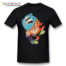 The Amazing World Of Gumball T Shirt 14 And Darwin T-Shirt Cotton Graphic Tee Tshirt