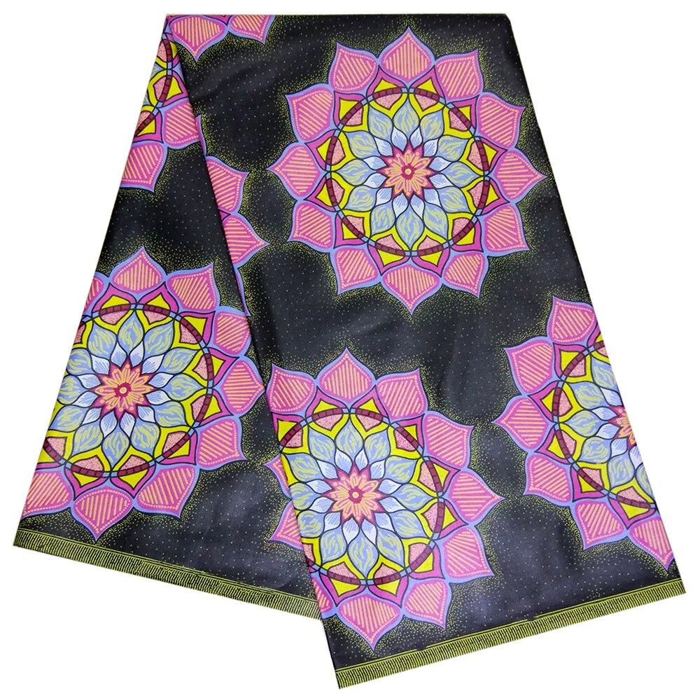 2019 New Nigerian Ankara Veritable Dutch Wax Prints 100% Cotton Black Fabric African Fabric For Women