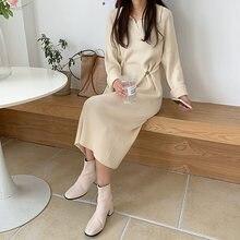 Цельнокроеное корейское модное женское платье модель сезона