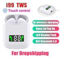 I99 Tws Mini Pop-up inalámbrico bajo estéreo auriculares Bluetooth Tap Control auriculares con caja de carga PK i12 i80 i200 i5000 i9000