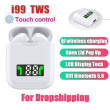 i99 Tws Mini Pop-up Wireless Bass Stereo Bluetooth Earphones Tap Control Earbuds