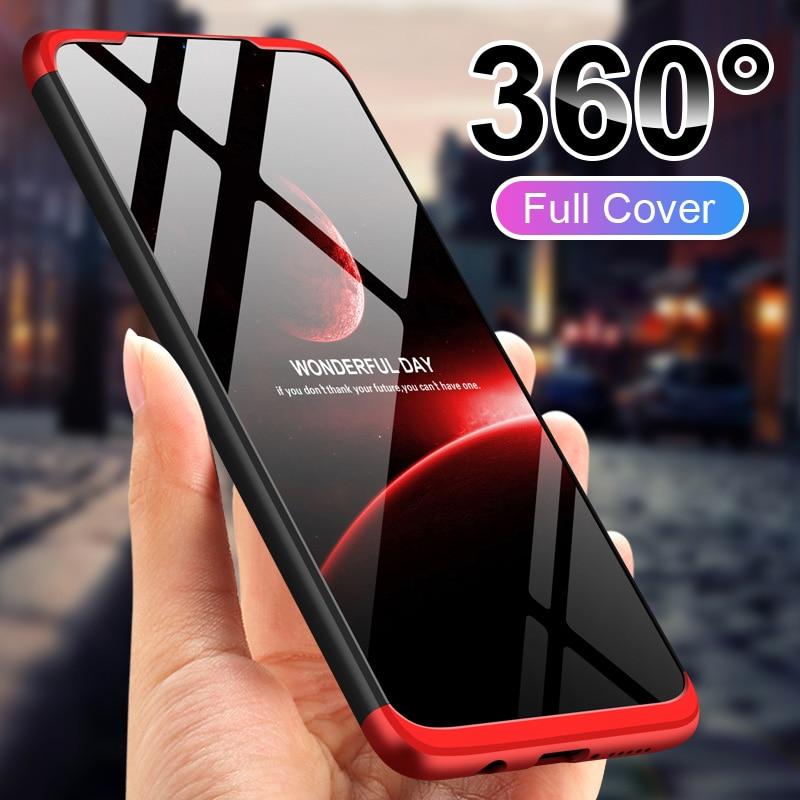 360° Full Body Cover Matte Phone Case For Xiaomi Redmi Note 8 7 6 5 K20 K30 Pro Splicing Protective Case For Redmi 8A 7A 6A 5A