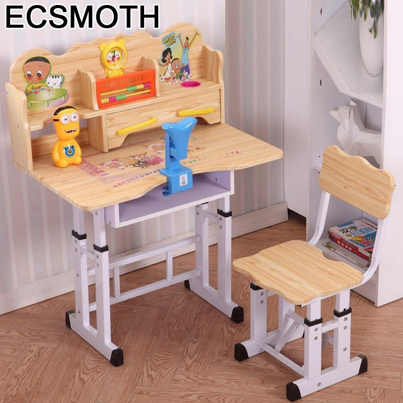 Toddler Pour Baby Desk And Chair Tavolo Per Tavolino Scrivania Bambini Adjustable Kinder Bureau Enfant Study Table For Kids