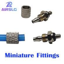 Миниатюрный фитинги m 3h 4 4hl наружная резьба m3 m4 m5 m6 трубки