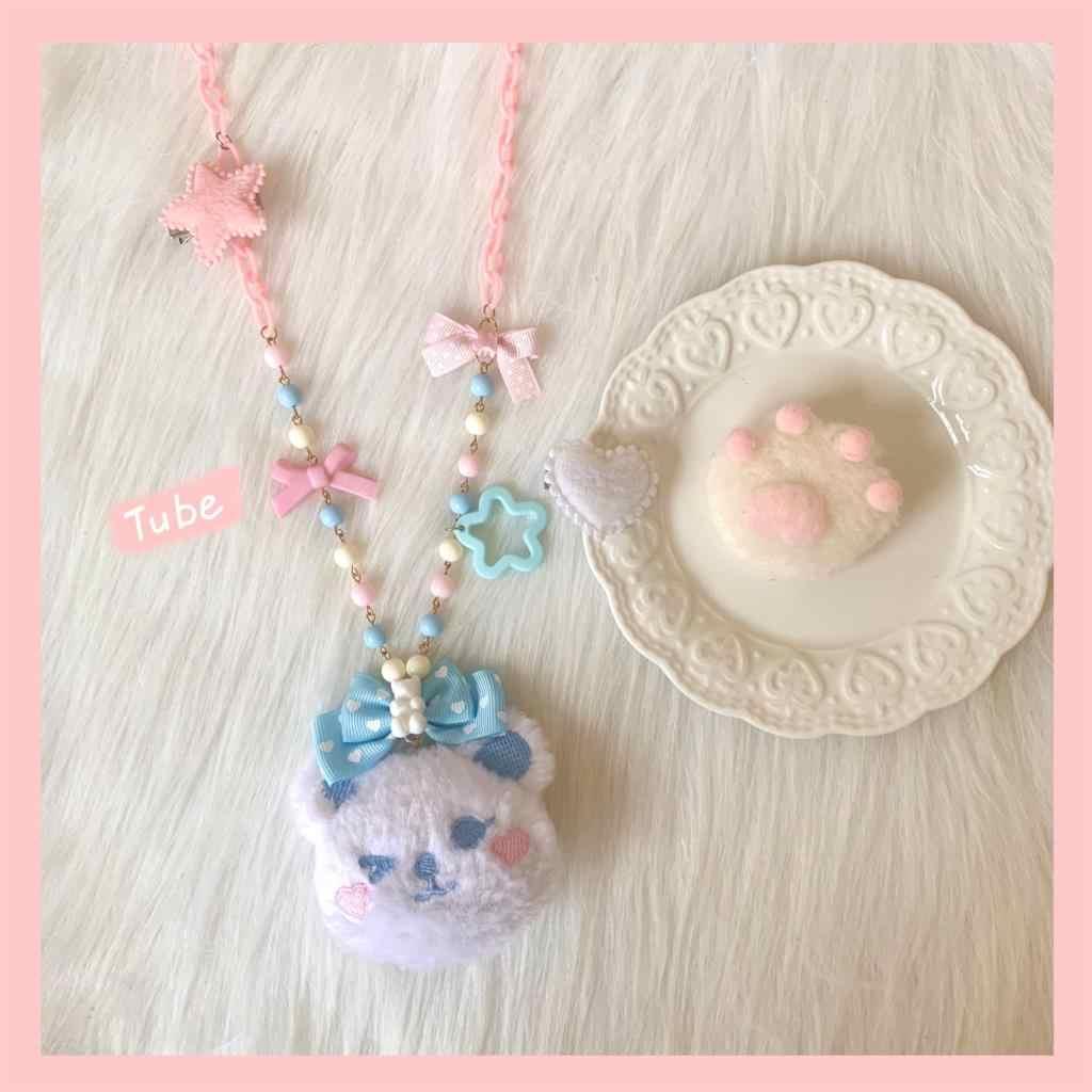 오리지널 핸드 메이드 로리타 목걸이 로리타 JK 유니폼 베어 인형 소프트 자매 소녀 액세서리 작은 것들