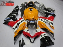 Motorcycle Fairing Kit For Honda CBR600RR F5 2007-2008 Injection ABS Plastic Fairings CBR 600RR 07-08 Bodyworks orange Repsol цены онлайн