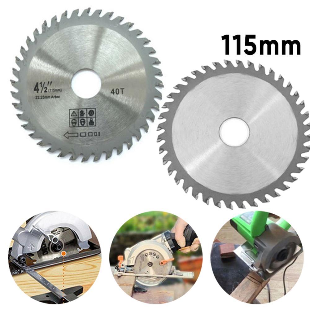 1pc 115mm 40 dentes de metal circular viu lâminas de corte de madeira para moedor de ângulo viu disco cortador de madeira lâmina de serra para corte de madeira