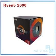 Nowy AMD Ryzen 5 2600 R5 2600 3.4 GHz sześć Core dwunastu Core 65W procesor CPU YD2600BBM6IAF gniazdo AM4 z wentylator chłodnicy